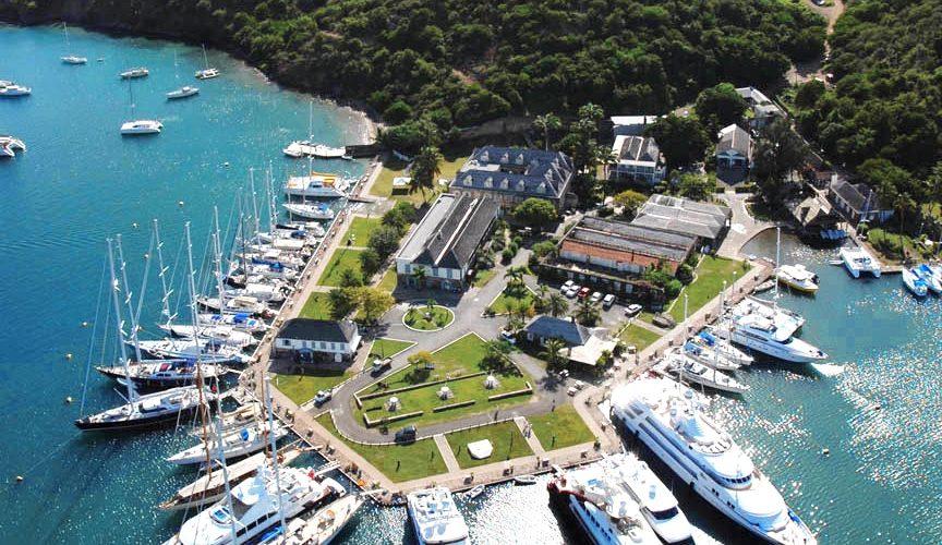 ANU-Aerial-Nelson's Dockyard Yachts