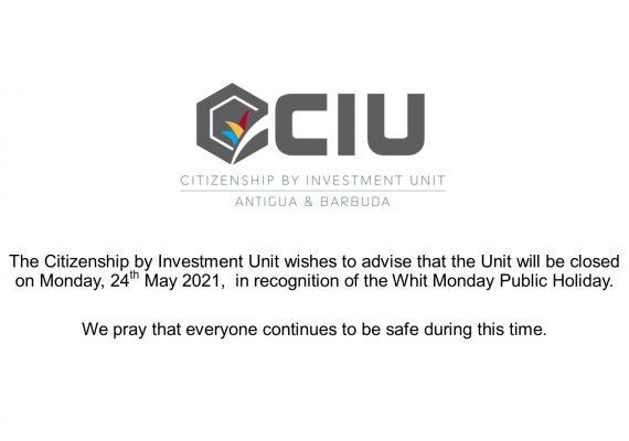 Whit Monday closure - 2021