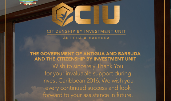 Thank you for your support during Invest Caribbean 2016